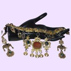 Antique Greek Wedding Necklace/Earrings