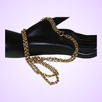 Vintage Double Strand 14 Karat Yellow Gold Necklace