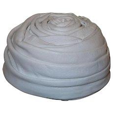 "Signed 1940's White Leather Hat by ""Velda Original"""