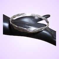 Signed Mexican Silver Bangle