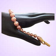 Signed Joan Rivers Faux Pearl Bracelet