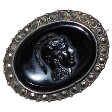 Antique Cut Steel Small Cameo