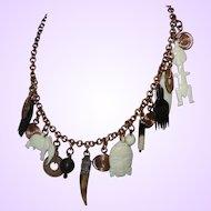 Vintage Ethnic Talisman Necklace in Copper