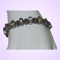 Vintage Sterling/Lemon Citrine Bracelet