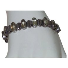 Vintage Sterling/Lemon Citrine Bracelet