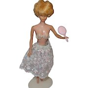 Vintage Barbie Floral Petticoat Outfit with Panties, Mirror and Bra