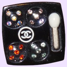 Chanel Resin Vanity Eye Shadow Case Lapel Pin