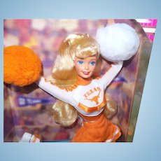 "Vintage University of Texas ""Longhorn"" Barbie Doll with Original Box"