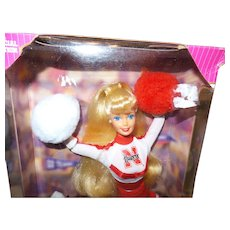 Vintage University of Nebraska Barbie Doll in Original Box NRFB
