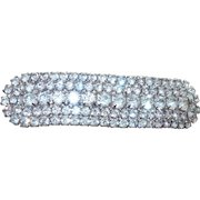 Vintage Five Row Rhinestone Belt Buckle