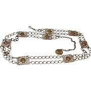 Vintage Gold Tone Metal Chain Belt