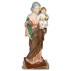 Vintage St. Joseph and Baby Jesus Figure