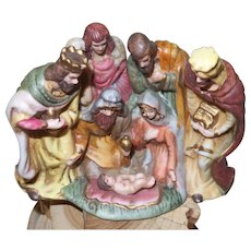 Vintage Bisque Nativity Scene