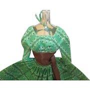 Vintage Barbie Let's Dance Series In Green