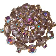 Vintage Juliana Brooch in Aurora borealis Crystals