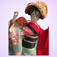 Clearance - Japanese Awa Dancer Doll in Original Case and Paperwork