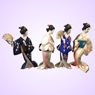 """Clearance - Hakata Bisque Doll Collection  """"The Maidens of the Changing Seasons"""""""