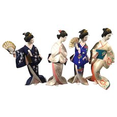 "Vintage Hakata Bisque Doll Collection  ""The Maidens of the Changing Seasons"""