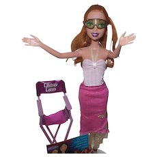 "Vintage My Scene ""Lindsay Lohan"" Doll with Chair"