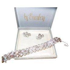 Signed Eisenberg Bracelet/Earrings in Original Box