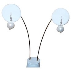 Artisan Created Baroque Cultured Pearl Drop Earrings