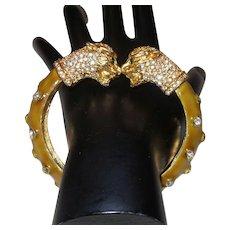 Signed KJL Panther Bracelet