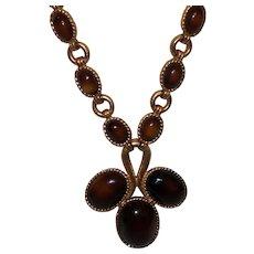 Vintage Jomaz Necklace in Glowing Bronze Lucite