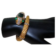 Signed Rare Kenneth Jay Lane Snake Bracelet
