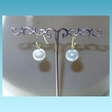 Cultured Baroque Pearl Earring With Gold Plated Ear Wires