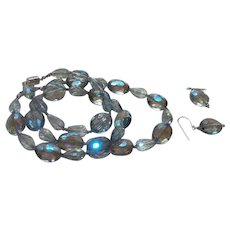 Artisan Created Crystal Necklace with Bracelet and earrings