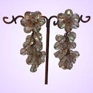 Vintage Aurora Borealis Crystal Dangle Earrings