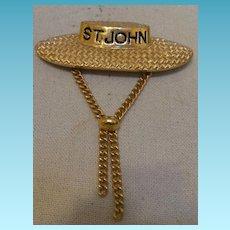 Signed St. John Brooch