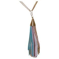 Vintage Metal Tassel Necklace