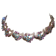 Signed Lisner Rhinestone Necklace/Earrings