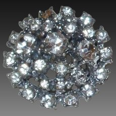 Vintage Rhinestone Dome Shaped Brooch
