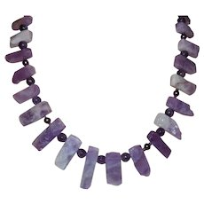 Hand Strung Lavender Amethyst Necklace with Earrings