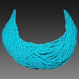 Forty Strand Vintage Turquoise Necklace