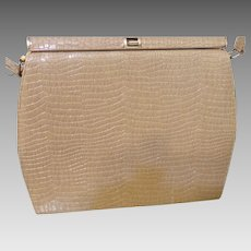 Vintage Embossed Leather Purse
