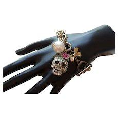 Vintage Betsy Johnson Skull Bracelet