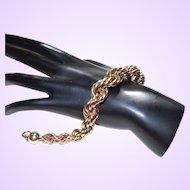 Signed Cartier Gold Rope Bracelet