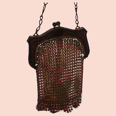 Signed Whiting and Davis 1920's Small Mesh Bag