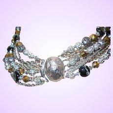 Clearance - SIgned Hattie Carnegie Ten Strand Necklace