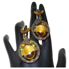 Vintage Juliana Givre' Glass Earrings