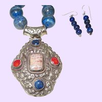 Hand Strung Necklace with Nepal Pendant