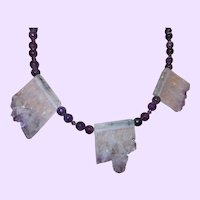 Hand Strung Amethyst Quartz Necklace