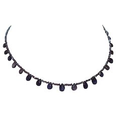 Hand Strung Faceted Iolite Necklace