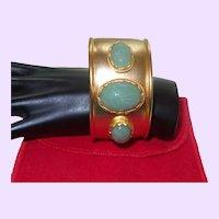 Signed KJL Egyptian Revival Cuff Bracelet