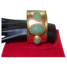 Signed KJL Egyptian Revival Cuff Bracelet