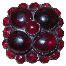 """6-1/2"""" Victorian Hat Pin With Garnets"""