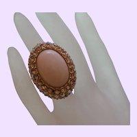 Vintage Faux Angel Coral Ring